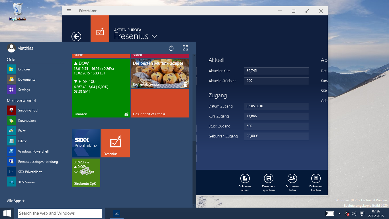 Live Tiles in Windows 10 Apps